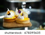 Eat Sweet Dessert Food In Cafe...