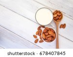 close up top view of healthy... | Shutterstock . vector #678407845