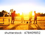 group of the kids  boys  are... | Shutterstock . vector #678409852
