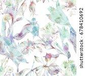 beautiful floral seamless...   Shutterstock . vector #678410692