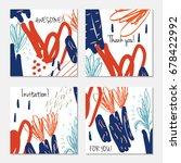 hand drawn creative invitation... | Shutterstock .eps vector #678422992