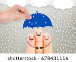 salesman agent hand holding... | Shutterstock . vector #678431116