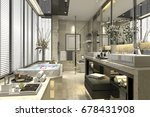 3d rendering modern classic... | Shutterstock . vector #678431908