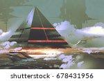 sci fi scene of futuristic... | Shutterstock . vector #678431956