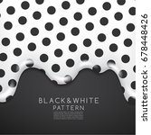 black and white pattern on... | Shutterstock .eps vector #678448426