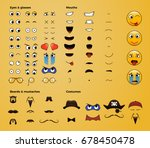 make your own emoji smiley.... | Shutterstock .eps vector #678450478