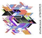 trendy geometrical vector... | Shutterstock .eps vector #678450925