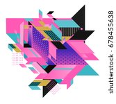 trendy geometrical vector... | Shutterstock .eps vector #678455638
