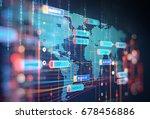 abstract  futuristic... | Shutterstock . vector #678456886