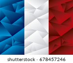 flag of france  low poly art | Shutterstock .eps vector #678457246
