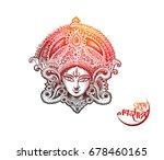 happy navratri  vector... | Shutterstock .eps vector #678460165