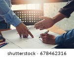 engineer and architect concept  ... | Shutterstock . vector #678462316