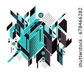 trendy geometrical vector... | Shutterstock .eps vector #678466282