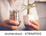 save money for investment... | Shutterstock . vector #678469342