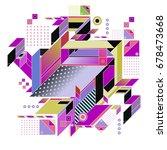 trendy geometrical vector... | Shutterstock .eps vector #678473668