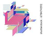 trendy geometrical vector... | Shutterstock .eps vector #678474592