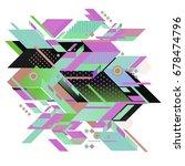 trendy geometrical vector... | Shutterstock .eps vector #678474796