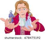 gulliver holds lilliputians on... | Shutterstock .eps vector #678475192