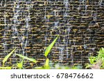 wall brick waterfall | Shutterstock . vector #678476662