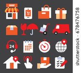 delivery color icons | Shutterstock .eps vector #678476758