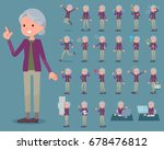 set of various poses of flat... | Shutterstock .eps vector #678476812