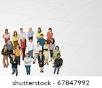 group of business and office... | Shutterstock .eps vector #67847992