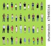 diversity people set gesture... | Shutterstock . vector #678480166
