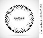 halftone vector circle frame... | Shutterstock .eps vector #678481552