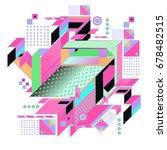 trendy geometrical vector... | Shutterstock .eps vector #678482515