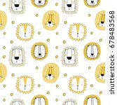 seamless pattern with cute lion | Shutterstock .eps vector #678483568