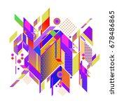 trendy geometrical vector... | Shutterstock .eps vector #678486865