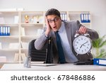 businessman rushing in the... | Shutterstock . vector #678486886