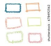 doodle border set | Shutterstock .eps vector #678492562