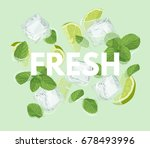 fresh letter with mojito... | Shutterstock .eps vector #678493996