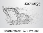 the excavator of the particles. ... | Shutterstock .eps vector #678495202