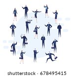 a group of business and office... | Shutterstock .eps vector #678495415