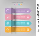 infographic template of four...   Shutterstock .eps vector #678498562