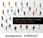 template of a group of business ... | Shutterstock .eps vector #67850167