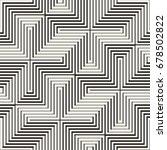 vector seamless cross tiling... | Shutterstock .eps vector #678502822