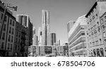 frank gehry building in... | Shutterstock . vector #678504706