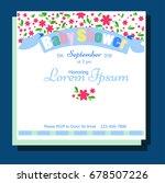 baby shower invitation   Shutterstock .eps vector #678507226