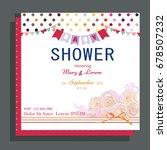 baby shower invitation   Shutterstock .eps vector #678507232