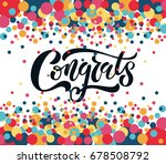 "hand sketched ""congrats""... 