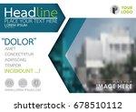 blue flyer cover business... | Shutterstock .eps vector #678510112