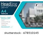 blue flyer cover business... | Shutterstock .eps vector #678510145