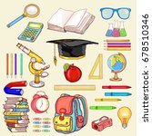 education elements vector.... | Shutterstock .eps vector #678510346