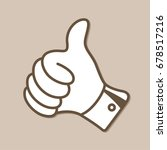 hand with thumb up vector icon | Shutterstock .eps vector #678517216