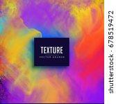 watercolor vibrant texture... | Shutterstock .eps vector #678519472