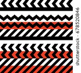 retro color tribal seamless... | Shutterstock . vector #678520846