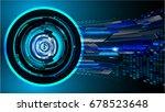 future technology  blue eye... | Shutterstock .eps vector #678523648